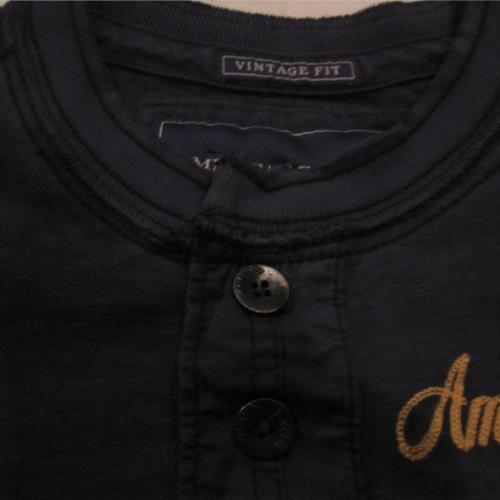 フロント刺繍加工ヘンリーネックロングシャツ - 1