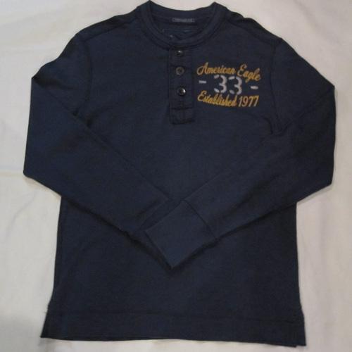 フロント刺繍加工ヘンリーネックロングシャツ
