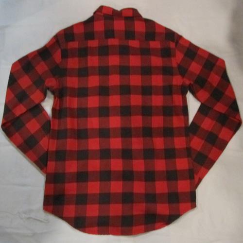 ブロックチェックロングスリーブネルシャツ - 1