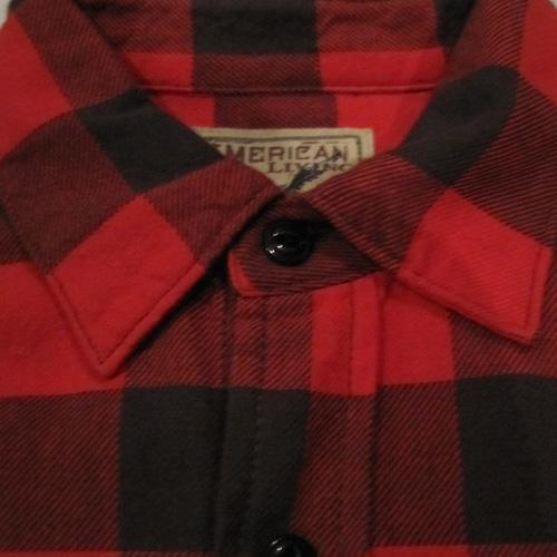 ブロックチェックロングスリーブネルシャツ - 2