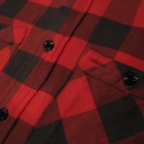 ブロックチェックロングスリーブネルシャツ - 3