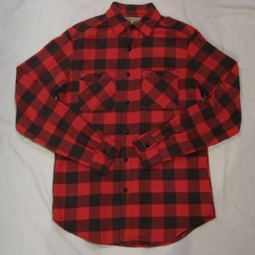 ブロックチェックロングスリーブネルシャツ