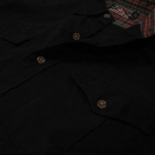 ロングスリーブワークボタンシャツ - 3