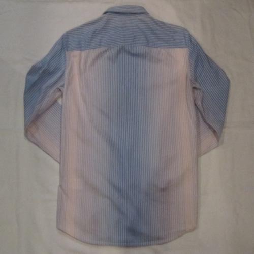 グラデェーションストライプボタンシャツ - 1