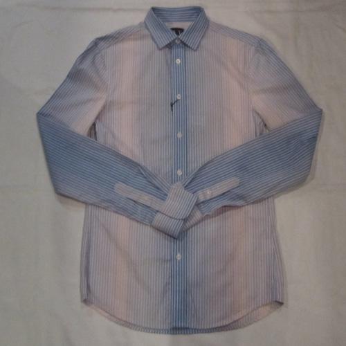 グラデェーションストライプボタンシャツ