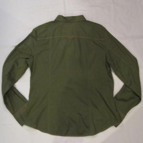バッチ付きロングスリーブボタンシャツ - 1