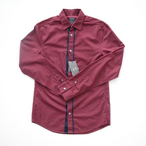 ARMANI EXCHANGE /アルマーニエクスチェンジ ロングスリーブドットボタンシャツ