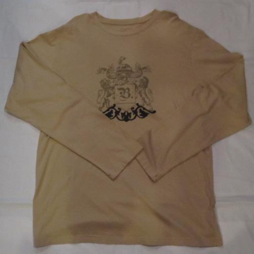 フロントロゴプリントロングスリーブTシャツ