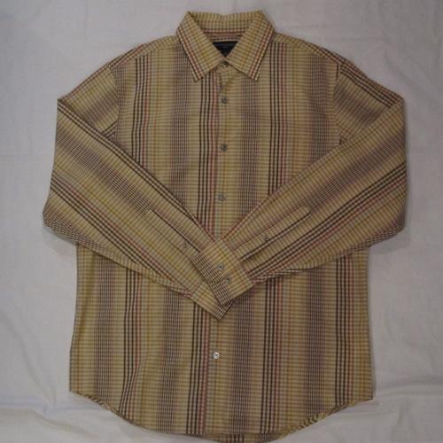 スプリングギンガムチェックボタンシャツ