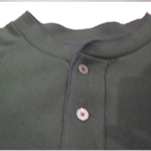 1ポイント刺繍ヘンリーネックロングTシャツ - 2