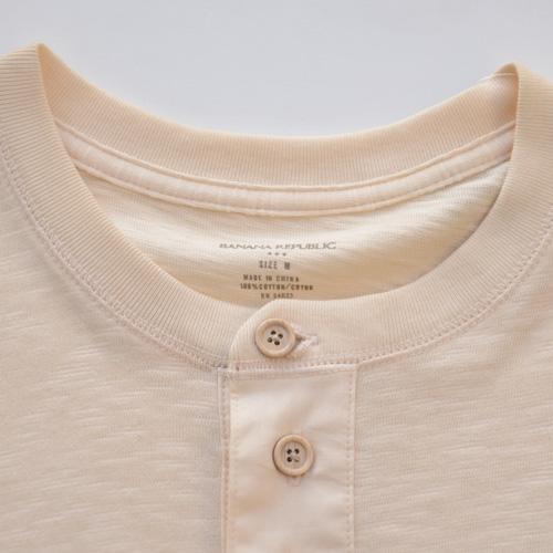BANANA REPUBLIC/バナナ・リパブリック ビンテージヘンリーネックロングTシャツ - 3