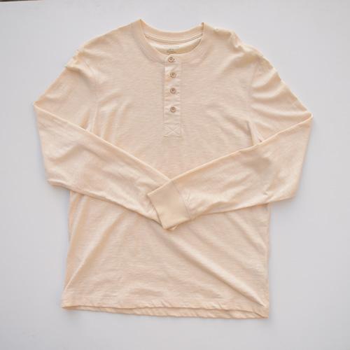 BANANA REPUBLIC/バナナ・リパブリック ビンテージヘンリーネックロングTシャツ - 4