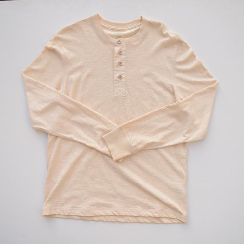 BANANA REPUBLIC/バナナ・リパブリック ビンテージヘンリーネックロングTシャツ