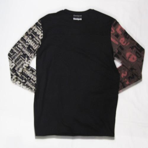 総柄&切り替えしロングスリーブTシャツ - 1