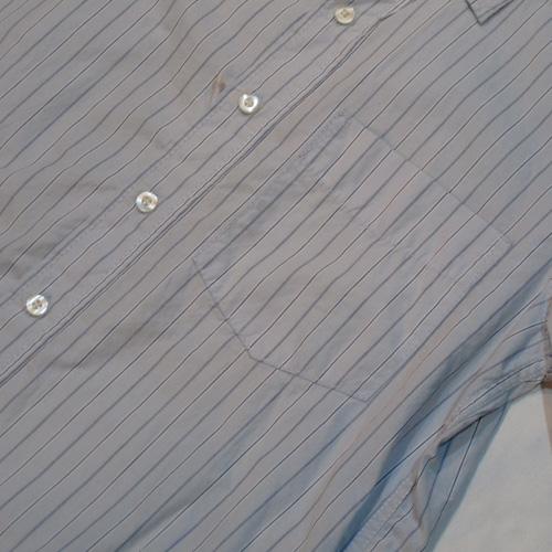 ストライプ柄ロングスリーブボタンシャツ - 3