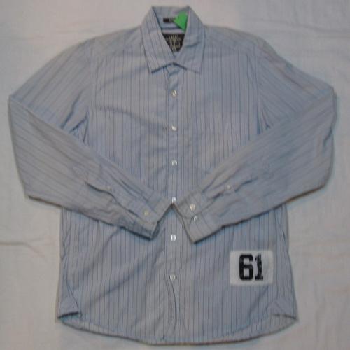 ストライプ柄ロングスリーブボタンシャツ
