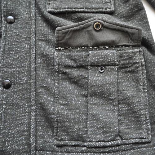 J.CREW/ジェイクルー 襟元フード付きジップアップ厚手ミリタリーパーカ - 3