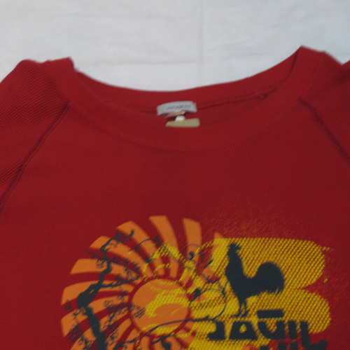 サーマル地フロントプリントロングTシャツ - 1