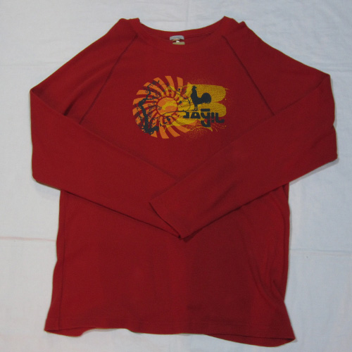 サーマル地フロントプリントロングTシャツ