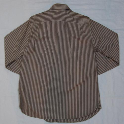 ストライプロングスリーブボタンシャツ - 1