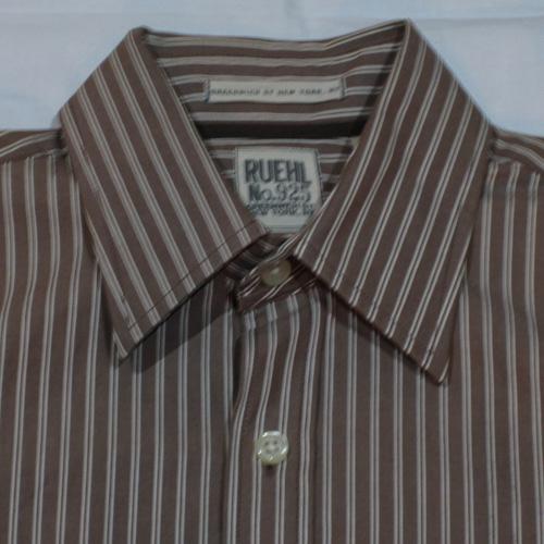 ストライプロングスリーブボタンシャツ - 2