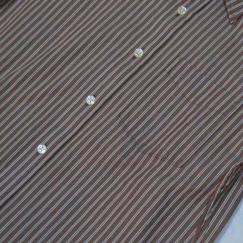 ストライプロングスリーブボタンシャツ - 3