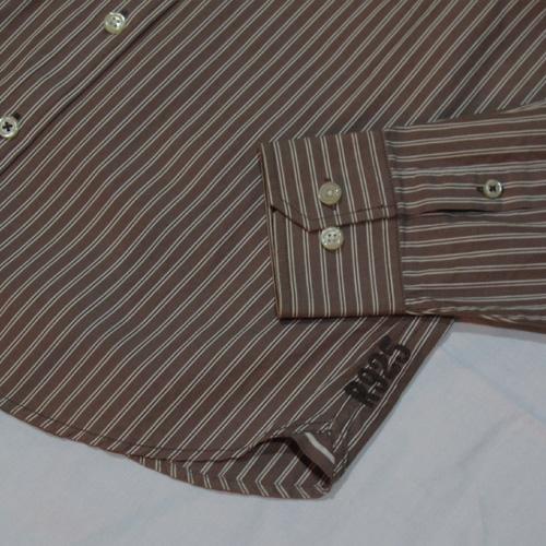 ストライプロングスリーブボタンシャツ - 4