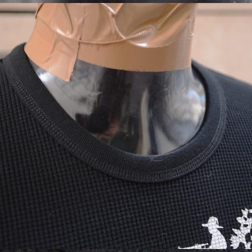 ASHANTie /アシャンティ オリジナルサーマルロングTシャツ ブラック-3