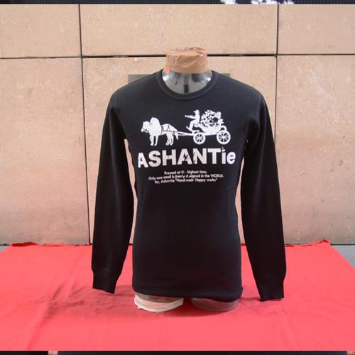 ASHANTie (アシャンティ )オリジナルサーマルロングTシャツ ブラック