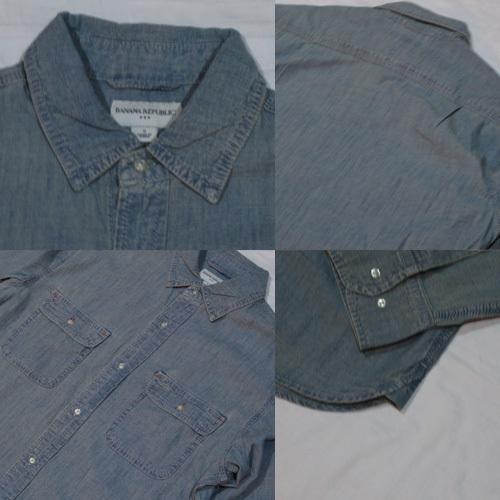 ロングスリーブシャンブレーシャツ - 2