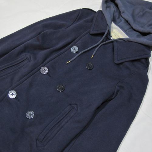 フード付きPコートジャケット - 3