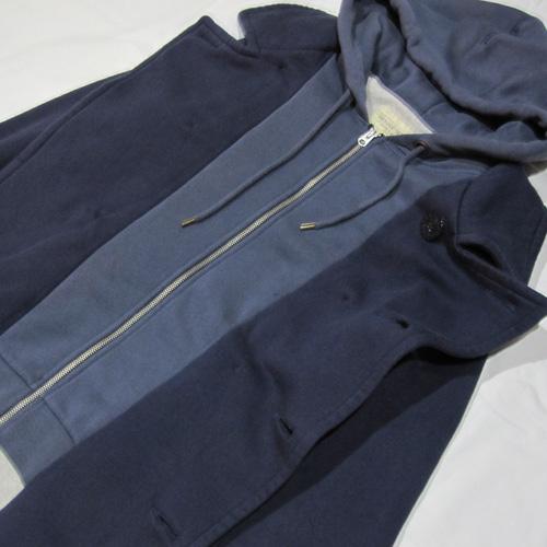 フード付きPコートジャケット - 4