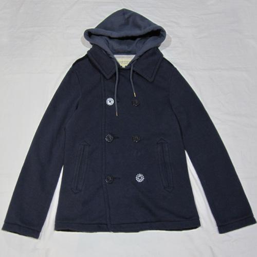 フード付きPコートジャケット