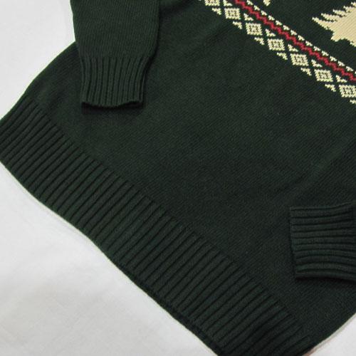 ノルディック柄丸首ニットセーター-5