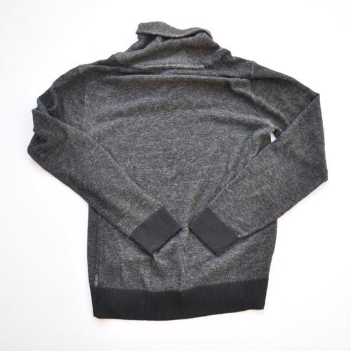 ショールカラー薄手ニットセーター - 1