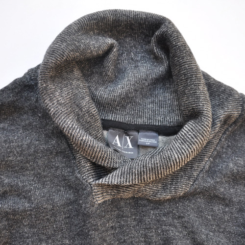 ショールカラー薄手ニットセーター - 2