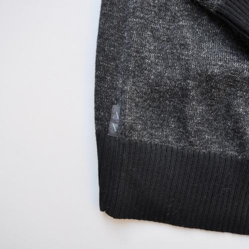 ショールカラー薄手ニットセーター - 3
