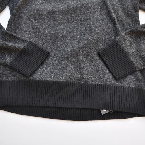 ショールカラー薄手ニットセーター - 4