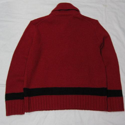 ショールカラーニットセーター - 1