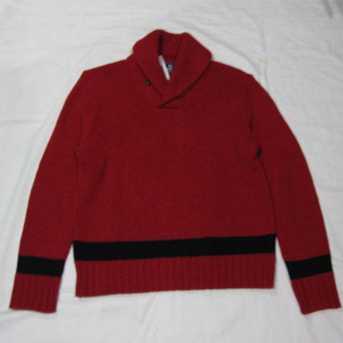 ショールカラーニットセーター