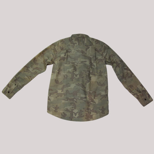 カモフラ柄ロングスリーブシャツ - 1