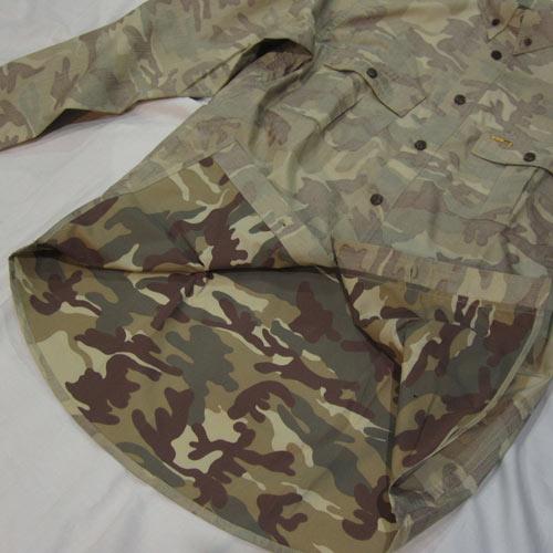 カモフラ柄ロングスリーブシャツ - 4