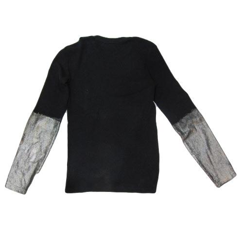 袖口ゴールドサーマルロングTシャツ - 1