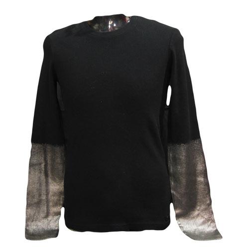 袖口ゴールドサーマルロングTシャツ - 2