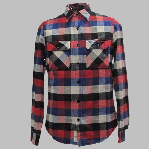 フランネルロングスリーブボタンシャツ - 1