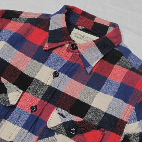 フランネルロングスリーブボタンシャツ - 2