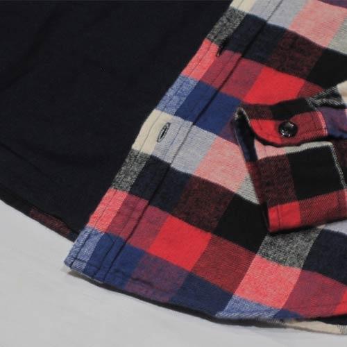 フランネルロングスリーブボタンシャツ - 3