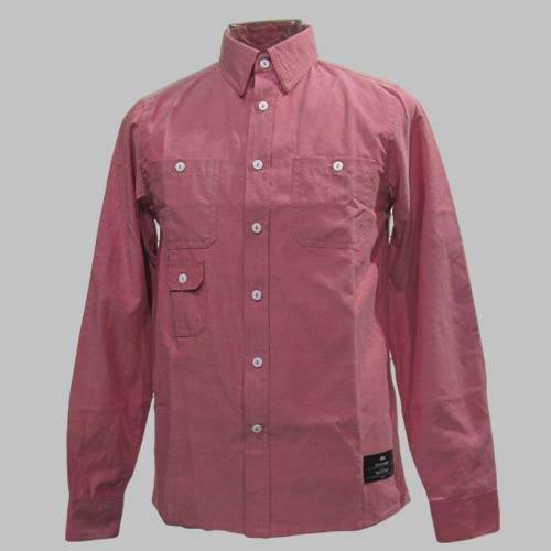 ビンテージレッドシャンブレーロングスリーブシャツ-3