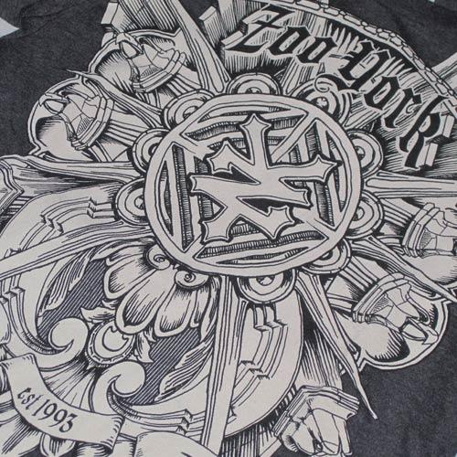 フロントプリント半袖Tシャツ - 3