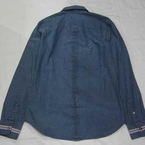 シャンブレーロングスリーブボタンシャツ - 1